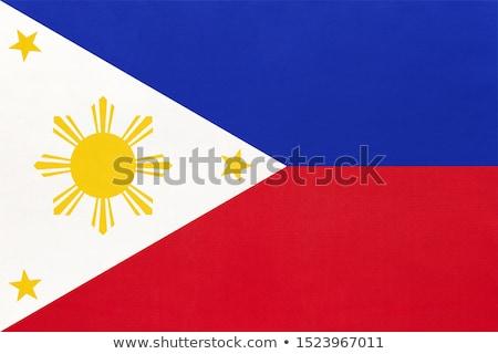 térkép · zászló · Fülöp-szigetek · üzlet · út · fehér - stock fotó © perysty