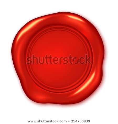 гарантировать · качество · штампа · красный · воск · печать - Сток-фото © tashatuvango