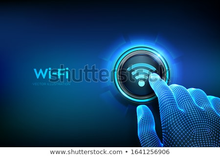 illustration of wireless network, wi-fi Stock photo © alexmillos