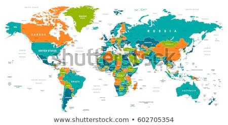 Ásia · mapa · cor · globo · cidade - foto stock © volina