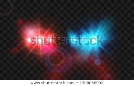 kırmızı · polis · ışık · parlak - stok fotoğraf © antonihalim