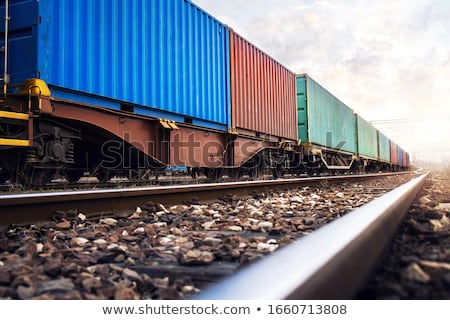 Trilho carro metal trem industrial Foto stock © vlad_star