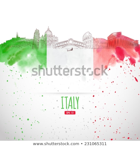 Italian Flag and the Colosseum Stock photo © ca2hill