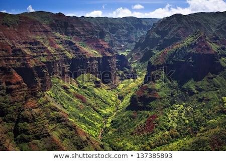 Desfiladeiro vulcânico terreno ilha Foto stock © searagen
