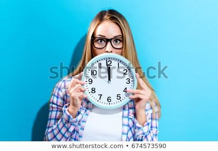 Occhiali clock mezzanotte nuovo anni texture Foto d'archivio © StephanieFrey