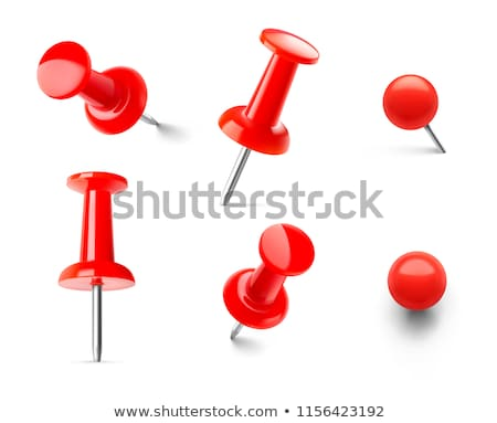 note memo paper with red pin on cork board stock photo © smuay