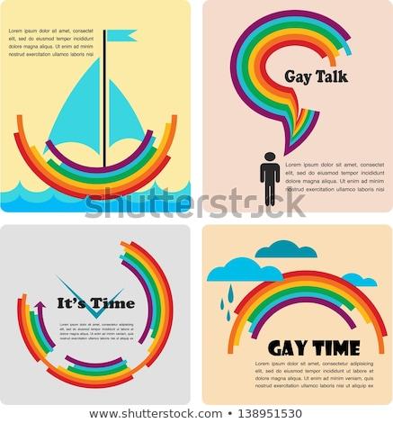 homoszexuális · leszbikus · szeretet · párok · ikon · szett · kapcsolat - stock fotó © redkoala