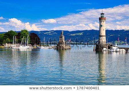 Portu wejście jezioro wody chmury morza Zdjęcia stock © w20er