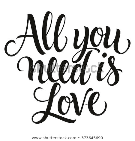 Necessidade amor vintage motivacional Foto stock © maxmitzu