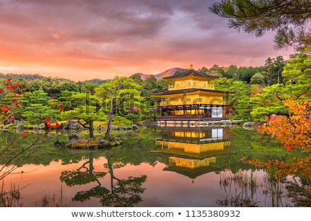 Tempel gouden beroemd plaats kyoto Japan Stockfoto © rufous