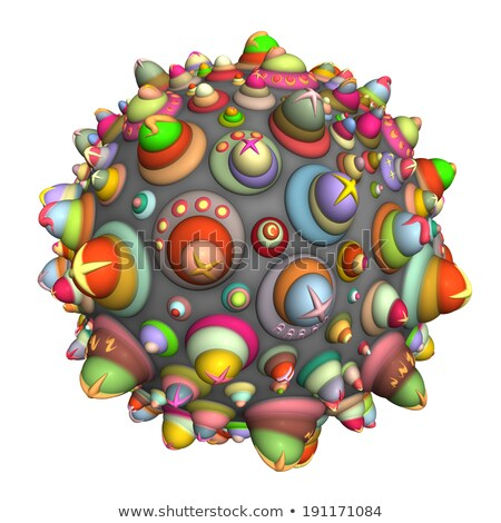3d techno ball in multiple color on white Stock photo © Melvin07
