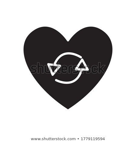 recycle heart illustration design over a white background Stock photo © alexmillos