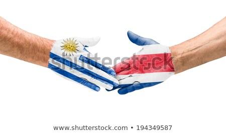 Stretta di mano Uruguay Costarica mano riunione sport Foto d'archivio © Zerbor