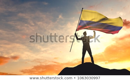3d man holding a Colombia flag Stock photo © Istanbul2009