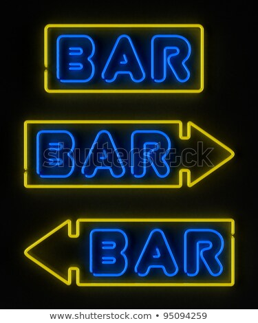 Neon sign with the word 'cocktails' over black Stock photo © jeffbanke