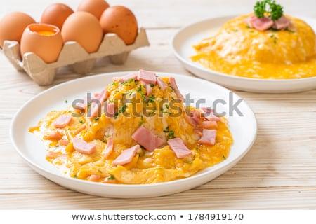 卵 · 新鮮な · サラダ · 菜 · 金 · 朝食 - ストックフォト © m-studio