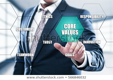 core values and business concept words in hexagons Stock photo © marinini