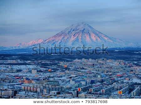 Panoramic view of Petropavlovsk-Kamchatsky city Stock photo © amok