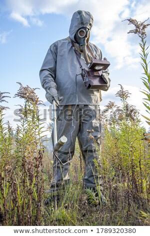 Soldaat rook explosie troepen leger veiligheid Stockfoto © shivanetua