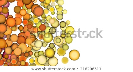 3d render strings of floating balls in multiple orange yellow Stock photo © Melvin07