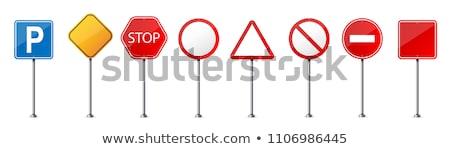 "Traffic light and sign ""parking"". Vector illustration Stock photo © leonido"