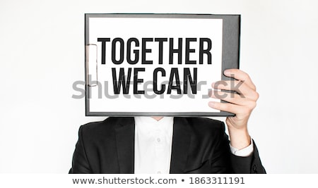 We Can Help business card in suit pocket Stock photo © stevanovicigor