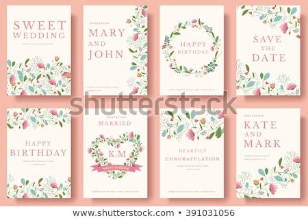 Invitation scrapbooking card Stock photo © gladiolus