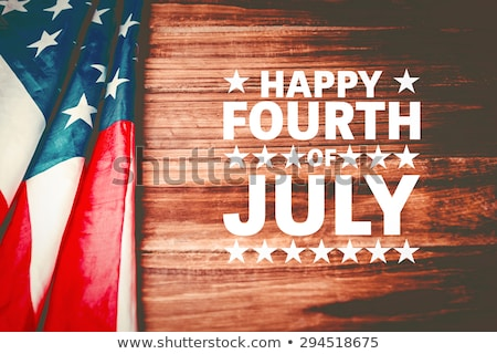 Stock photo: 4th July – Independence day of United States of America. Desk