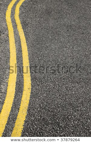 No parking double yellow lines along a twisting road. Stock photo © latent
