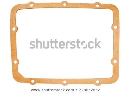 Oude ovaal papier geïsoleerd witte auto Stockfoto © Taigi