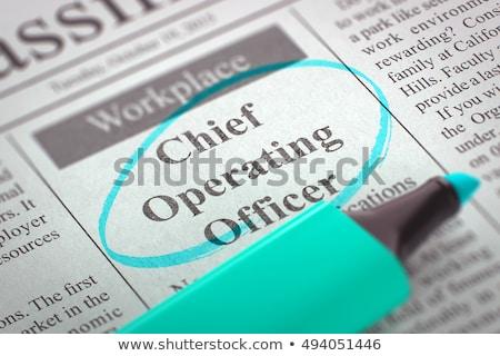 Training and Development Manager Vacancy in Newspaper. Stock photo © tashatuvango