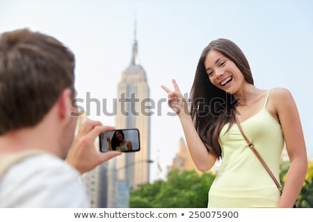 edifício · cidade · homem · casal · retrato - foto stock © maridav