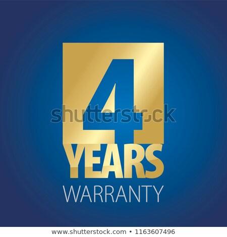 Rok gwarancja niebieski wektora ikona przycisk Zdjęcia stock © rizwanali3d