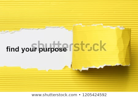 Find your purpose Torn Paper Stock photo © ivelin