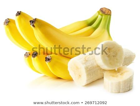 Foto stock: Plátanos · rebanadas · blanco · poco · pelado