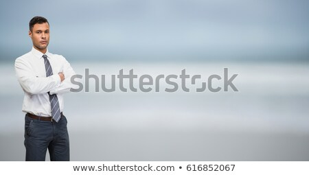business man standing on the shore of the sea Stock photo © feedough