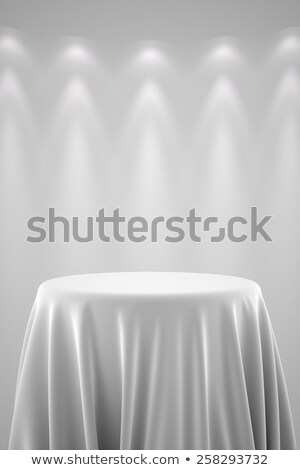 Pedestal with silk cloth and spot lights Stock photo © creisinger