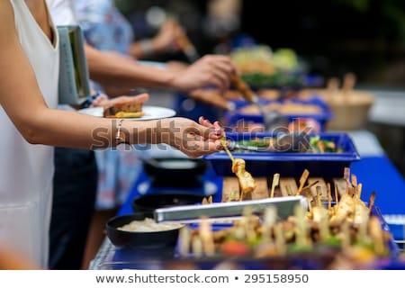 Persone buffet line immagine lastre Foto d'archivio © cteconsulting