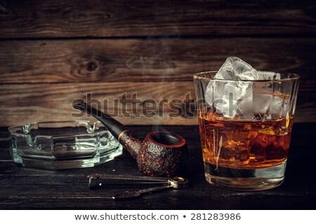 tubo · vidro · conhaque · madeira · beber · jantar - foto stock © givaga