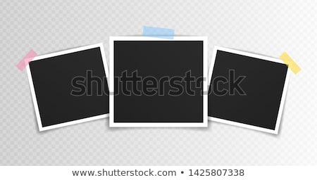 Vecteur photo caméra blanche ordinateur noir Photo stock © gladcov