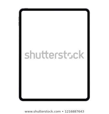 Ipad nieuwe geïsoleerd witte telefoon communicatie Stockfoto © Ava