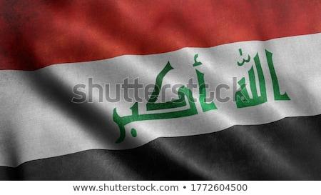 Insanlar bayrak Irak yalıtılmış beyaz kalabalık Stok fotoğraf © MikhailMishchenko