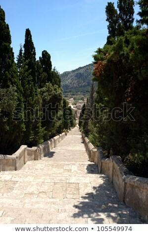 Calvary Steps at Pollensa, Mallorca, Spain  Stock photo © wjarek