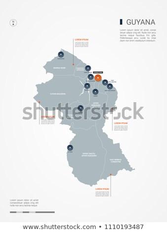 Narancs gomb kép térképek Guyana űrlap Stock fotó © mayboro