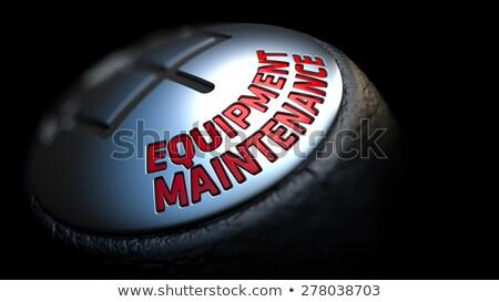 gear stick with red text equipment maintenance stock photo © tashatuvango
