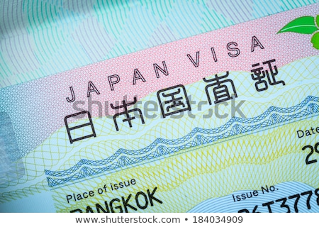 admitted stamp of Japan Visa for immigration travel concept Stock photo © FrameAngel