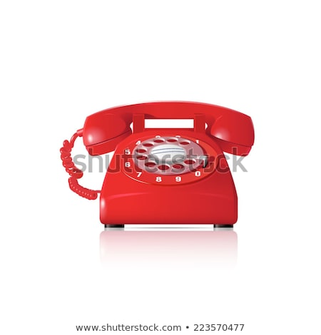 vintage · vermelho · telefone · branco · escritório · tecnologia - foto stock © saransk