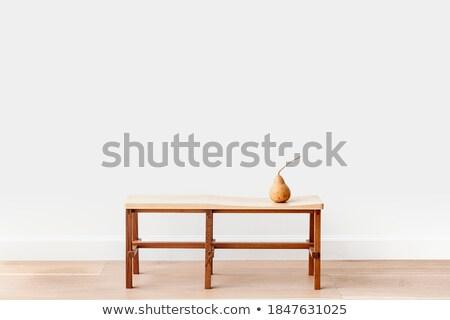 Vintage White Bench Retro Toned Stock photo © stevanovicigor