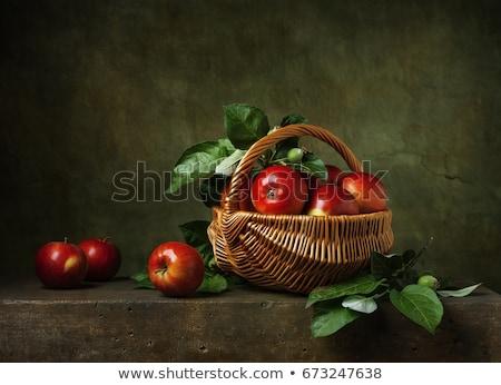 csendélet · gyümölcs · ananász · almák · banán · szilva - stock fotó © vlaru