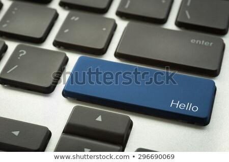 Bilgisayar klavye merhaba düğme odak Stok fotoğraf © vinnstock
